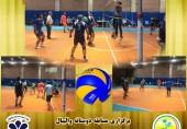 برگزاری مسابقه دوستانه والیبال بین تیم کارکنان دانشگاه و تیم منتخب دانشجویان