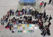 عکس یادگاری دانشجویان و اساتید گروه گرافیک