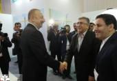 دیدار رییس جهاددانشگاهی و رییس جمهور آذربایجان در نمایشگاه باکو