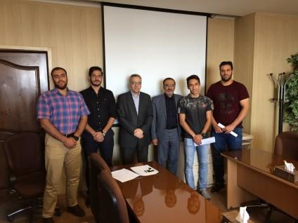 نشست ریاست محترم دانشگاه با دانشجویان ورزشکار اعزامی به مسابقات  چهارمین المپیاد ورزشی دانشجویان کشور