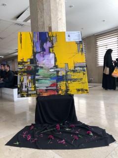 """نمایش تابلوی """"اتوبوس زرد"""" در پاسداشت جان باختگان دانشگاه آزاد واحد علوم و تحقیقات"""
