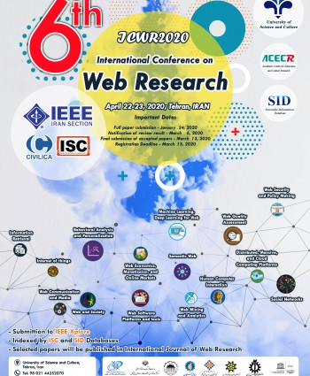 6th International Conference of Web Research