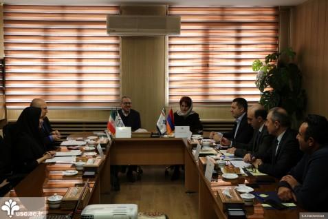 دیدار رییس و هیات همراه دانشگاه اروپایی جمهوری ارمنستان از دانشگاه علم و فرهنگ